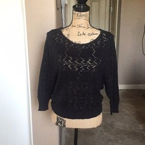 Roxy open knit top